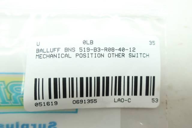 BALLUFF BNS 519-B3-R08-40-12 MECHANICAL POSITION SWITCH