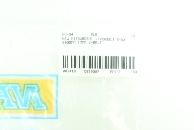 MITSUBOSHI 17X2032LI B-80 V-BELT 83IN X 5/8IN D630307
