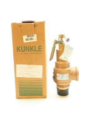 KUNKLE 6010GGM01 PRESSURE 1210CFM BRASS THREADED 110PSI 1-1/2IN NPT RELIEF VALVE