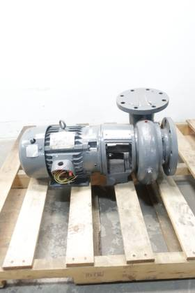 LEWIS PUMPS GR12545-5-4 IRON 4IN 363GPM 29FT 5HP 5IN 230/460V-AC CENTRIFUGAL PUMP