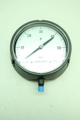 ASHCROFT 6IN 1/4IN 0-60PSI NPT PRESSURE GAUGE