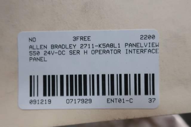 ALLEN BRADLEY 2711-K5A8L1 PANELVIEW 550 OPERATOR INTERFACE PANEL 24V-DC SER H