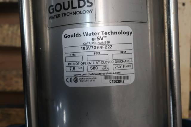 GOULDS 10SV7GH4F22Z E-SV VERTICAL PUMP 2-1/2IN 7-1/2HP 230/460V-AC D656936