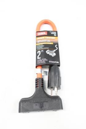 CAROL 00594-63-04 POWR-CENTER EXTENSION 2FT 125V-AC CORDSET CABLE