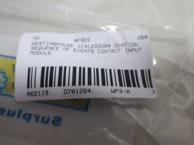 WESTINGHOUSE 1C31233G04 OVATION SEQUENCE OF EVENTS CONTACT INPUT MODULE