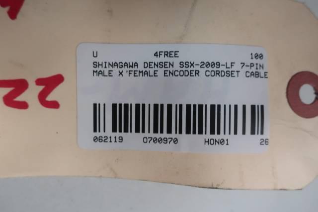 SHINAGAWA DENSEN SSX-2009-LF 7-PIN MALE TO FEMALE ENCODER CABLE 12M