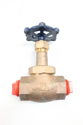 POWELL 110 MANUAL 800 BRASS THREADED 1-1/2IN GLOBE VALVE
