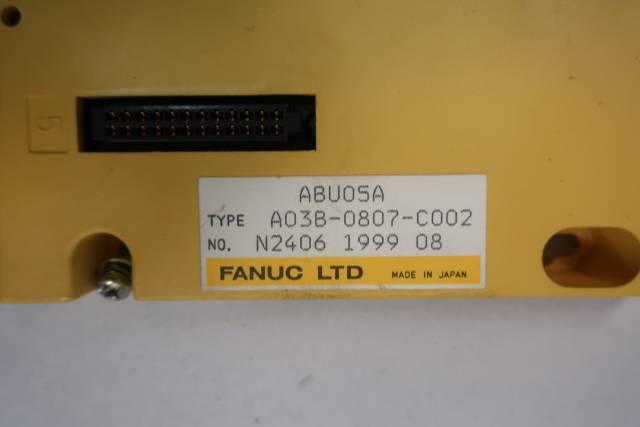 FANUC A03B-0807-C002 CHASSIS BASE UNIT