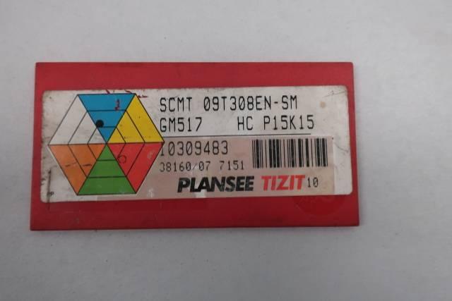 PACK OF 10 PLANSEE TIZIT SCMT 09T308EN-SM CARBIDE INSERTS