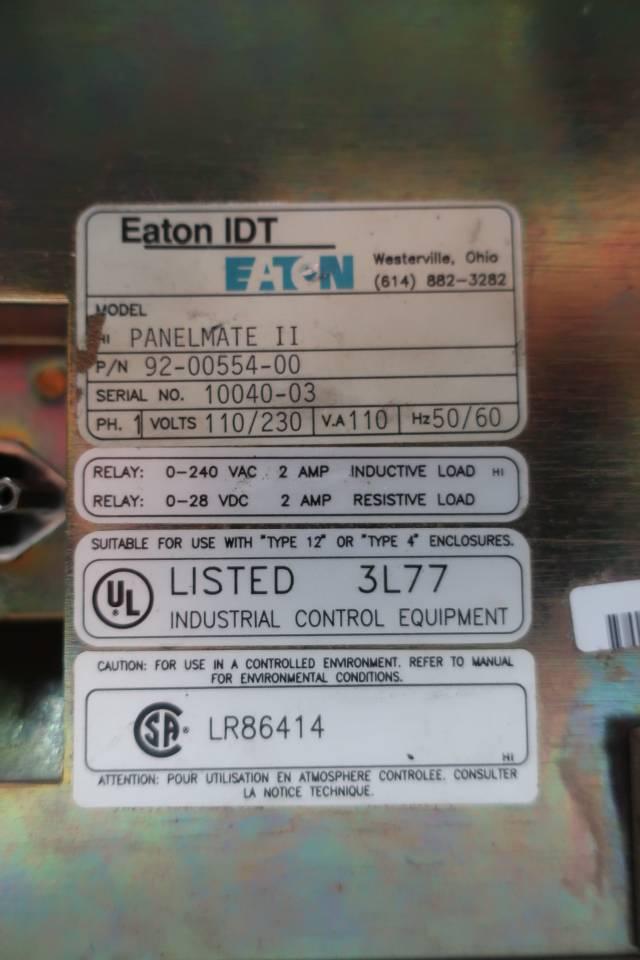 EATON 92-00554-00 OPERATOR INTERFACE PANEL PANELMATE II 230V-AC 110VA