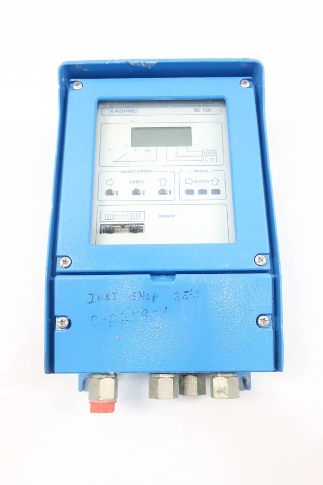 KROHNE SC150/AS/D/FS 1/2 SIGNAL CONVERTER 100-230V-AC D605946