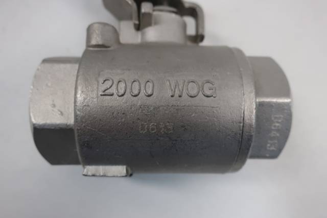 HAITIMA MANUAL STAINLESS BALL VALVE 1IN NPT 2000WOG D660164