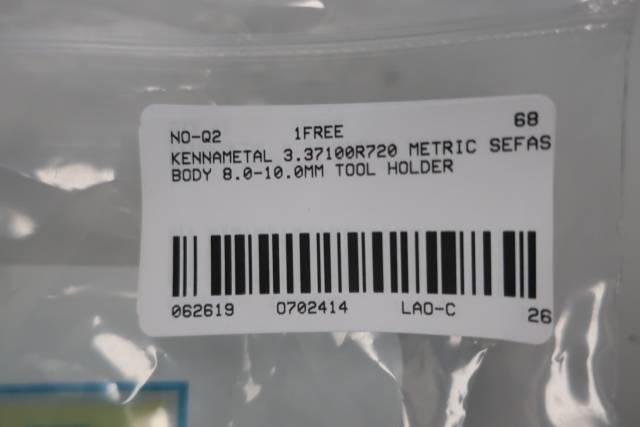 KENNAMETAL 3.37100R720 METRIC SEFAS BODY 8.0-10.0MM TOOL HOLDER