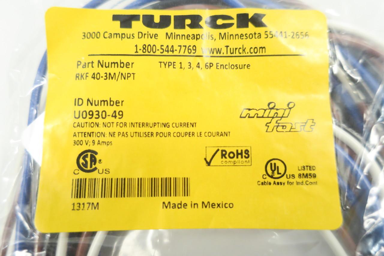 TURCK   RKF 40-3M//NPT    U0930-49