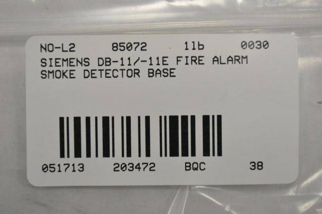 LOT 2 NEW SIE DB-11/-11E FIRE ALARM SMOKE DETECTOR BASE B203472 Db Sie Smoke Detector Wiring Diagram on