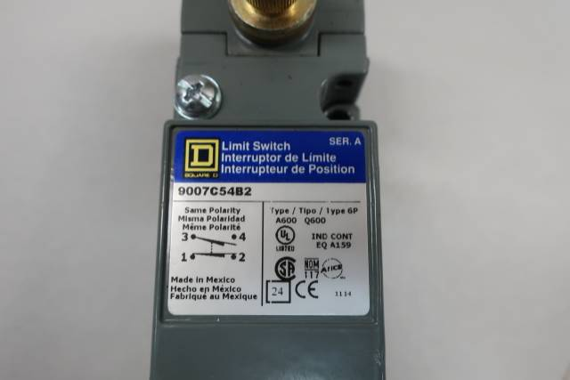SQUARE D 9007C54B2 LIMIT SWITCH SER A