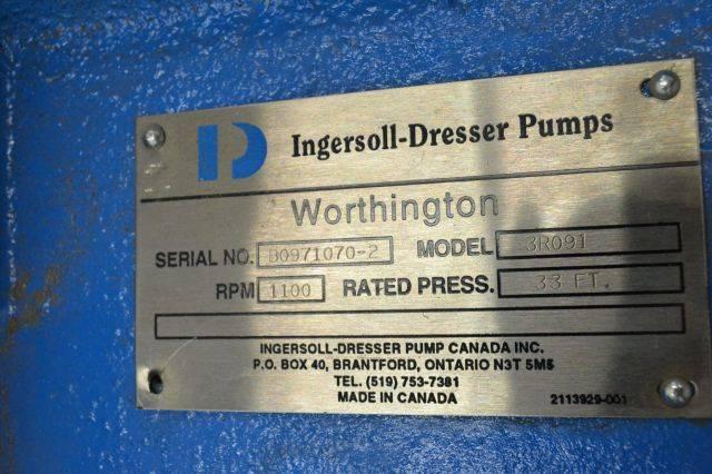 WORTHINGTON 3R091 INGERSOLL DRESSER 33FT 1100RPM CASING STEEL B217874