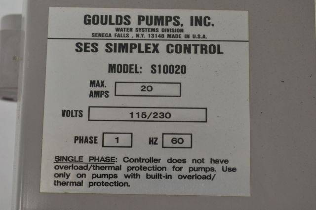 4001e control panel wiring diagram goulds pumps s10020 ses simplex control panel box 1ph ... ses simplex control s10020n1 wiring #13