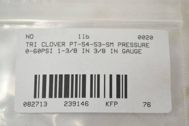 Details about  /NEW TRI-CLOVER 54-60-N-5-S GAUGE 5460N5S