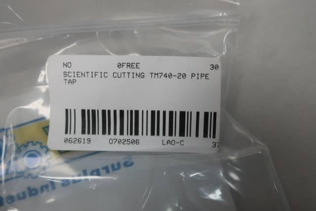 SCIENTIFIC CUTTING TM740-20 THREAD MILL PIPE TAP