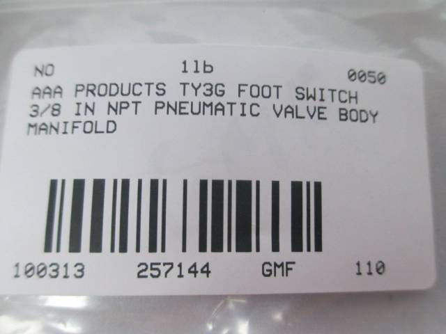 AAA PRODUCTS TY3G FOOT SWITCH 3/8 IN NPT PNEUMATIC VALVE D257144