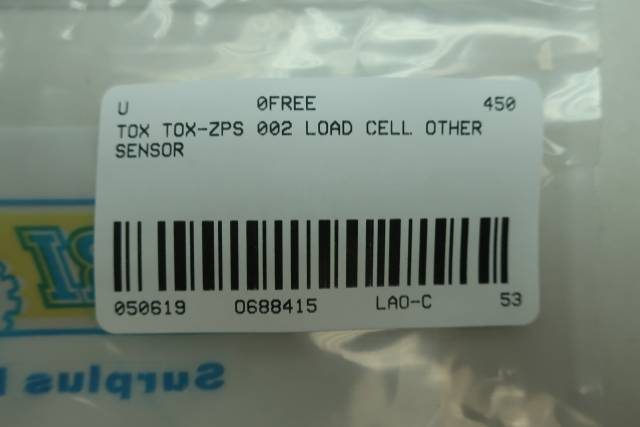 TOX TOX-ZPS 002 LOAD CELL
