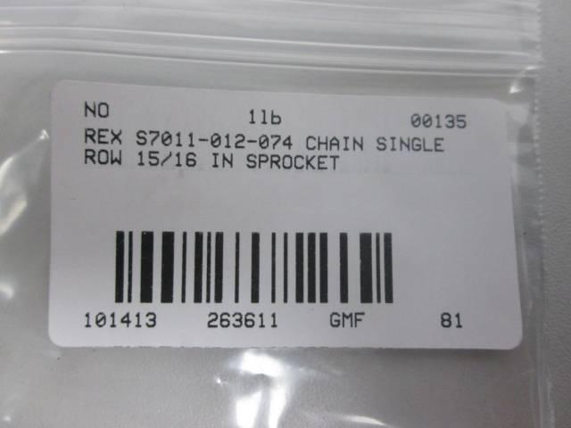 REX S7011-012-074 CHAIN SINGLE ROW 1IN SPROCKET D263611
