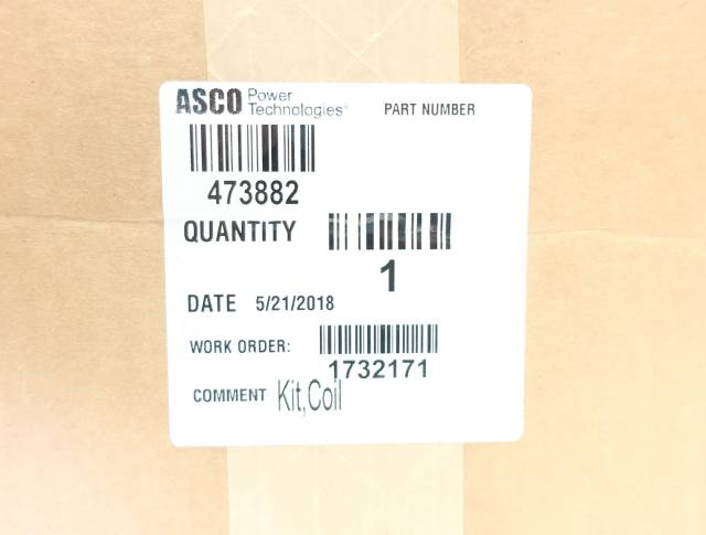ASCO 473882 TRANSFER SWITCH COIL KIT