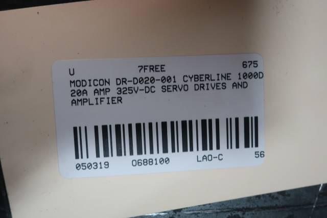 MODICON DR-D020-001 CLD020 CYBERLINE 1000D SERVO DRIVE 20A AMP 325V-DC