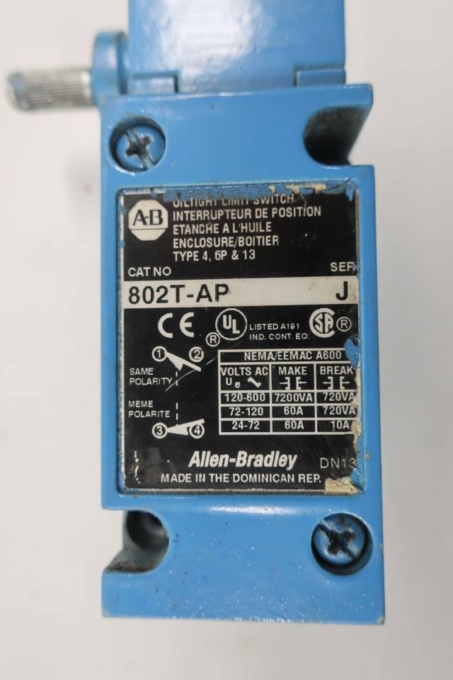 ALLEN BRADLEY 802T-AP LIMIT SWITCH SER J