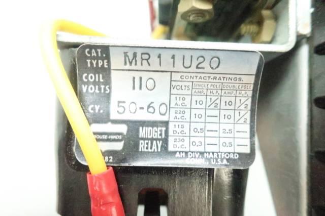 CROUSE HINDS MR11U20 LIMIT SWITCH ASSEMBLY 110V-AC
