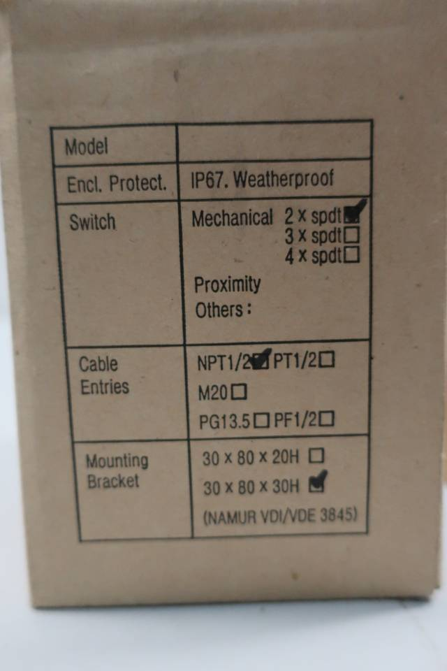 J-FLOW CONTROLS SERIES 53 MECHANICAL LIMIT SWITCH 1/2IN NPT 250V-AC 250V-DC