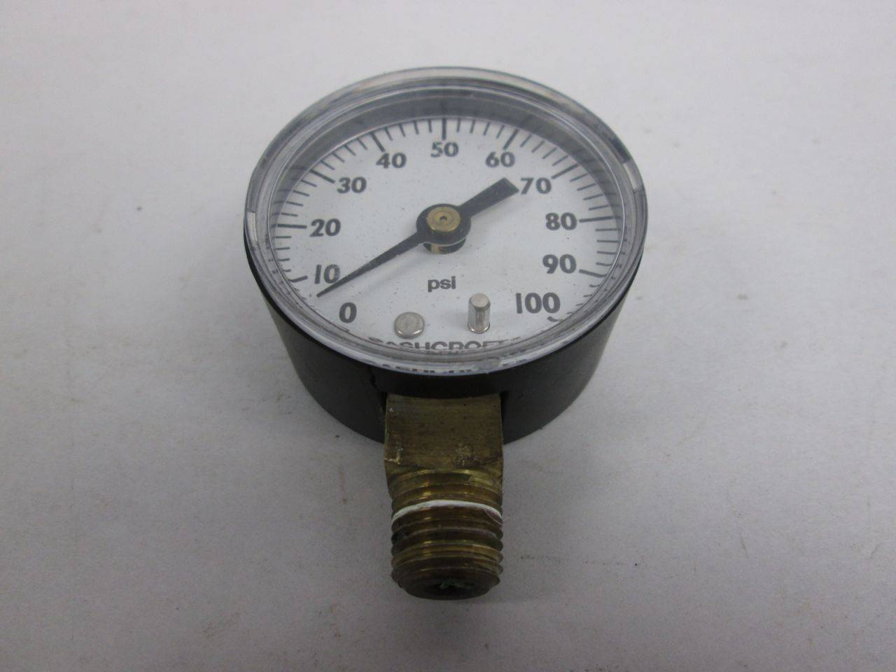 1//4 NPT 101008S02L1000# Ashcroft Stainless Gauge 4 face