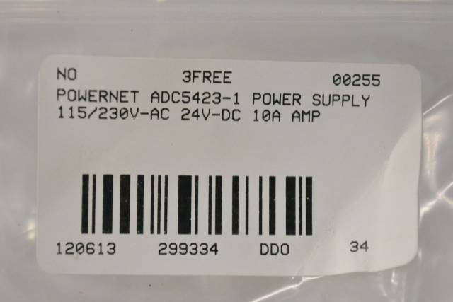 POWERNET ADC5423-1 POWER SUPPLY 115/230V-AC 24V-DC 10A AMP B299334