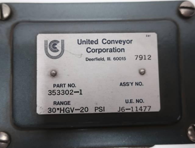 UE UNITED ELECTRIC J6-11477 30IN-HG VACUUM 20PSI PRESSURE SWITCH 250V-AC