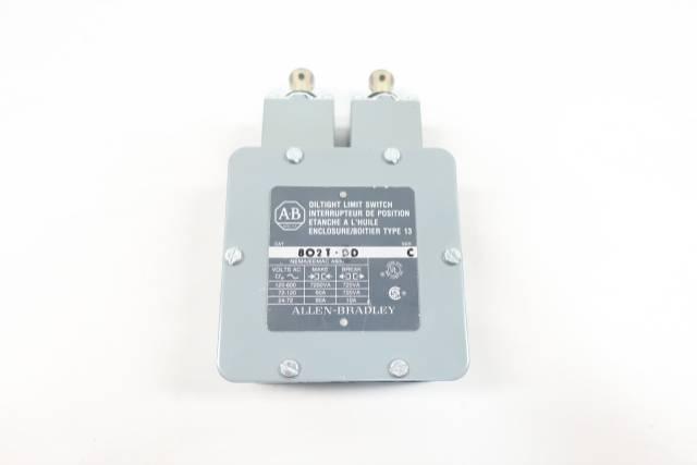 ALLEN BRADLEY 802T-DD OIL TIGHT LIMIT SWITCH 125-600V-AC SER C