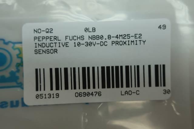 PEPPERL FUCHS NBB0.8-4M25-E2 INDUCTIVE PROXIMITY SENSOR 10-30V-DC