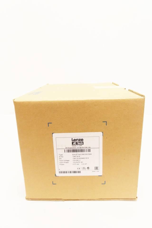 LENZE ESV371N01SXCXX1B43 1PH 120/240V-AC 1/2HP AC VFD DRIVE R716760