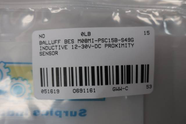 BALLUFF BES M08MI-PSC15B-S49G INDUCTIVE PROXIMITY SENSOR 12-30V-DC
