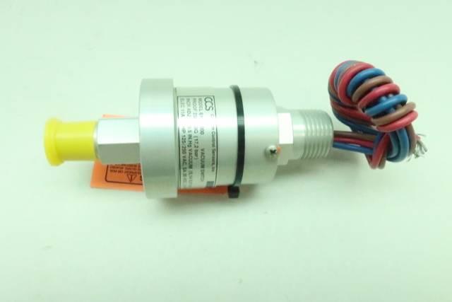 CUSTOM CONTROL SENSORS 611V8000 VACUUM SWITCH 125/250V-AC