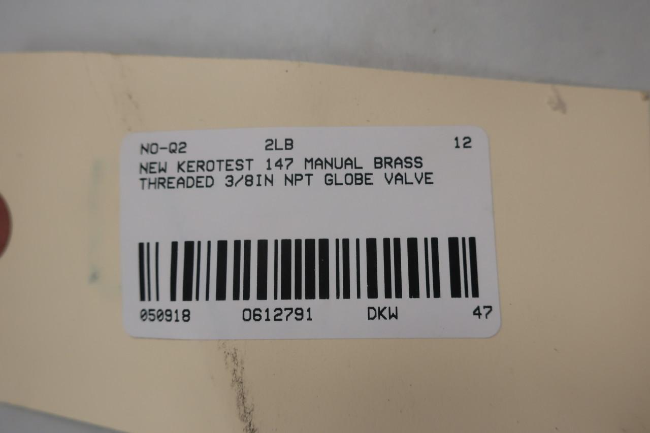 KEROTEST 147 3//8IN NPT Brass Globe Valve D612791