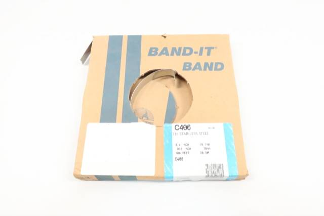 BAND-IT C406 STAINLESS BAND 3/4IN 0.030IN 100FT D615853