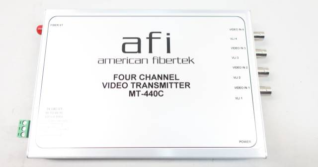 AMERICAN FIBERTEK MT-440C FOUR CHANNEL VIDEO TRANSMITTER