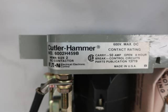 CUTLER HAMMER 6002H459B DC CONTACTOR 230V-DC 600V-DC 50A
