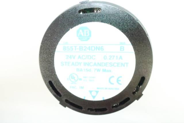 ALLEN BRADLEY 855T-B24DN6 BLUE LIGHT MODULE 24V-DC SER B