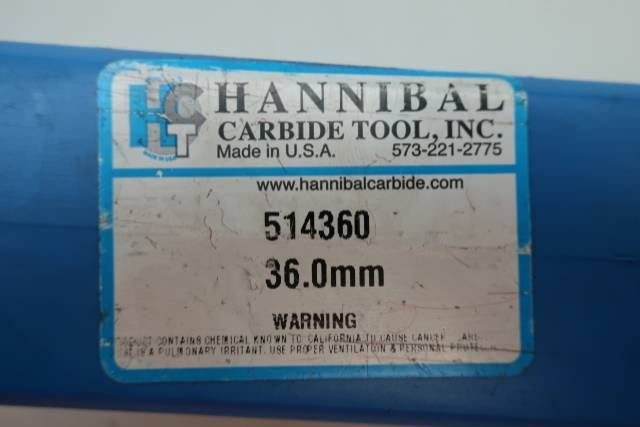 HANNIBAL CARBIDE 514360 REAMER 36MM