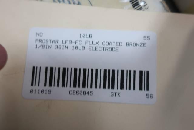PROSTAR LFB-FC FLUX COATED BRONZE 1/8IN 36IN 10LB ELECTRODE D660845