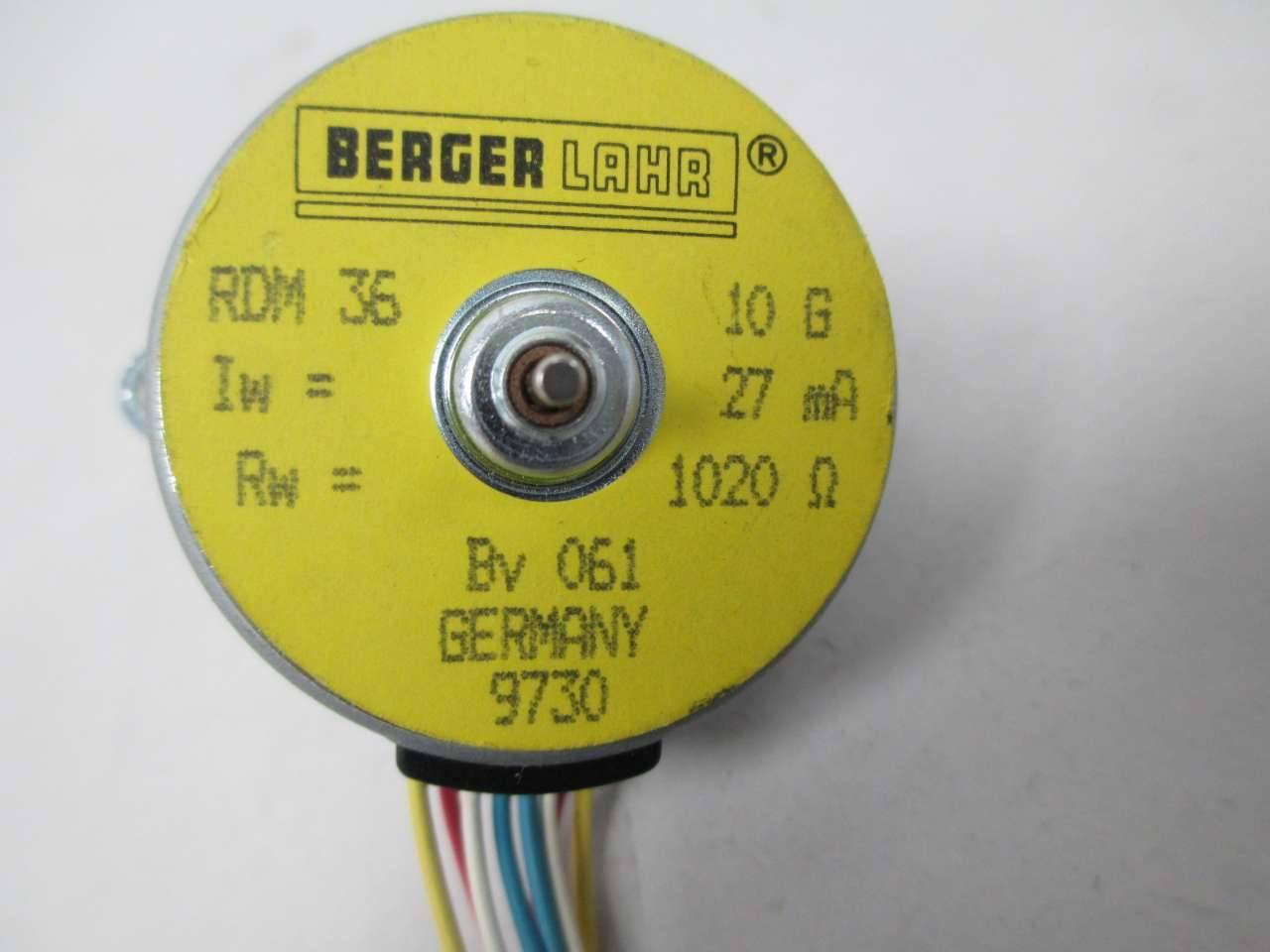 bauteil BERGER LAHR RDM  RDM 63 Schrittmotor inkl
