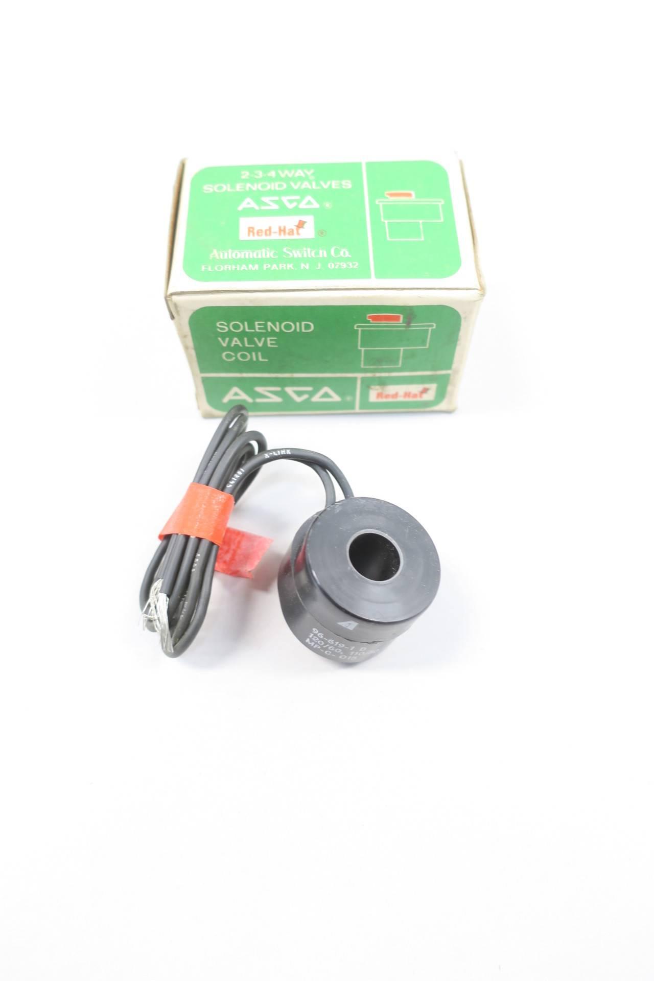 Asco 96-619-1-D Red-hat Solenoid Valve Coil 120v-ac