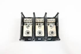FERRAZ SHAWMUT 67663 POWER DISTRIBUTION BLOCK 3P 600V-AC TERMINAL AND CONTACT BLOCK